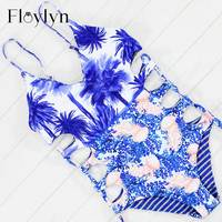 Sexy High Cut One Piece Swimsuit Double Sides Swimwear Women Bathing Suit Bodysuit Beachwear Bandage Monokini