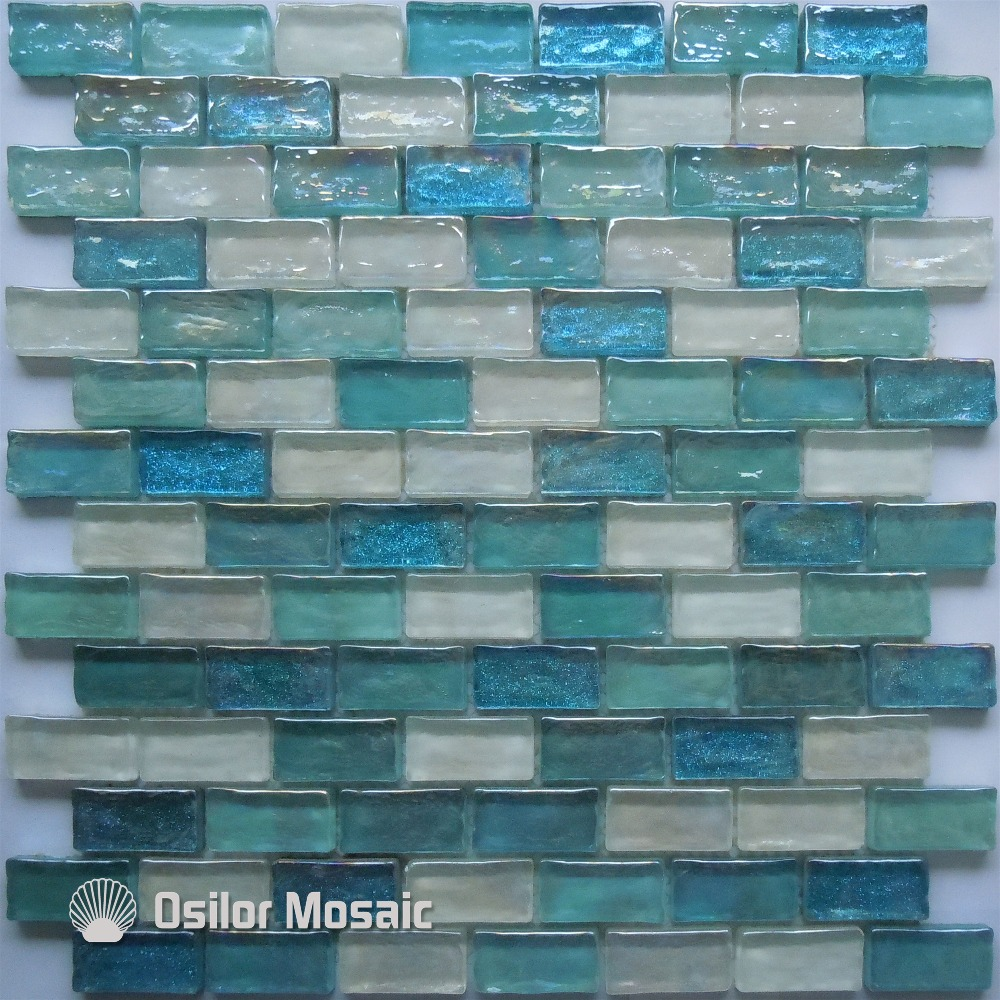 Free shipping mediterranean sea style brick pattern white and blue ...