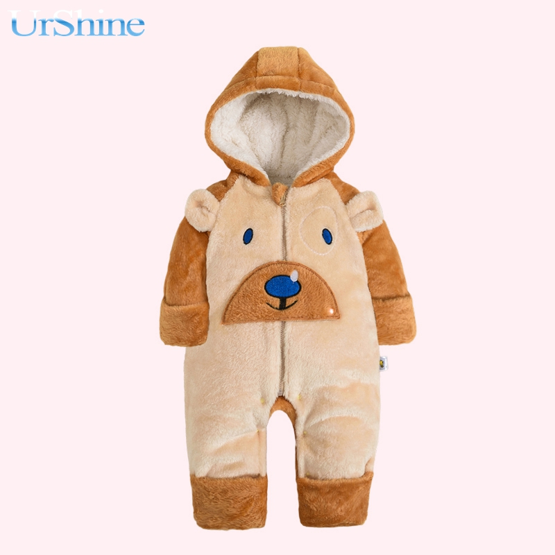 2018 New Winter Fasion Hoodies For Bebes Boy Baby Girl One Piece Long Sleeve Lovely Soft Bebes Warm New Born Infant Ropa Suits baby girl prewalker shoes infant girl mikey sneakers mouse flower pink soft sole pram shoes sapato infantil menina zapatos bebes