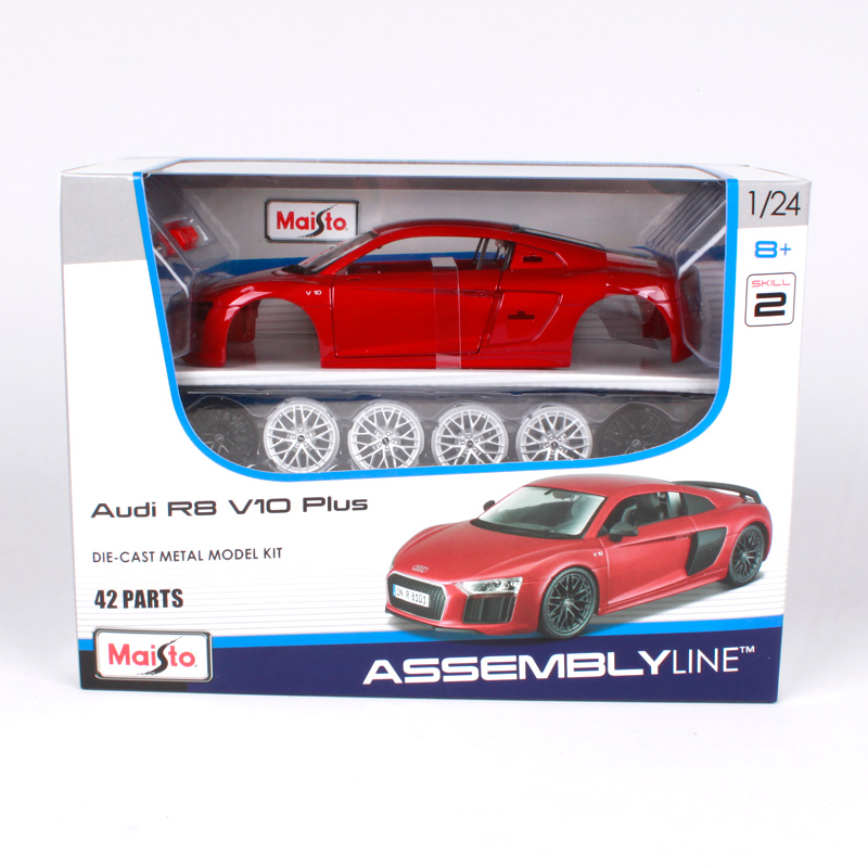 Maisto 1 24 Audi R8 V10 Plus Sports Car Assembly Diy Diecast Model