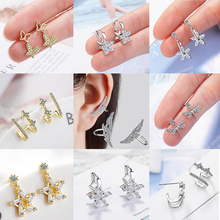 New Arrival Exquisite Micro Paved Cubic Zirconia Earrings for Women Stud Fashion Accessories Jewelry All Match CEL2114