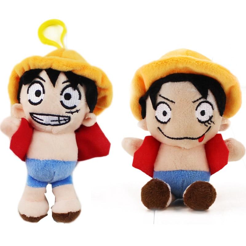 2style Japanese Anime One Piece Luffy Plush keychain Toy Soft Stuffed Model Popular Birthday Gift