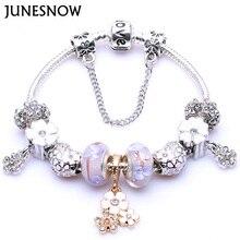2017 New Purple flower Silver Plated Flower Charm  Beads butterfly pendantif fits European Women Bracelets Free shipping