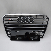 A5 S5 Style chrome frame black Front Bumper Grill Grille Car-styling for audi A5 2012~2015