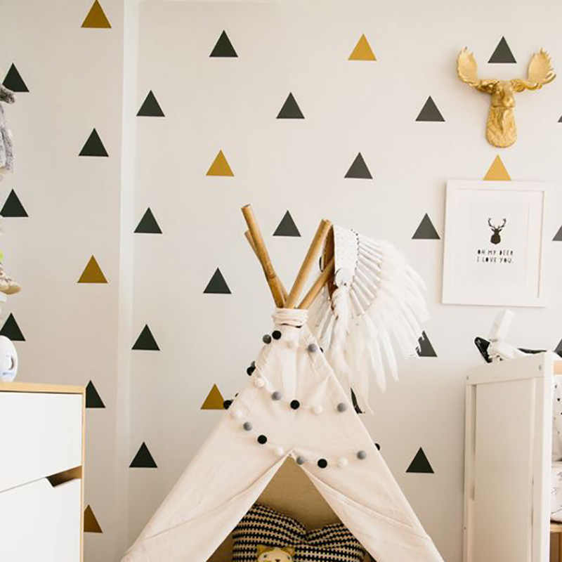 Baby Room Decor Triangles Wall Sticker For Kids Room Decorative Stickers Children Bedroom Nursery Wall Decal Stickers