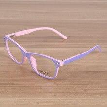 ФОТО kids eyeglasses children flexible tr90 plain glasses frame optical prescription eyewear girls boys pink patchwork glasses frames