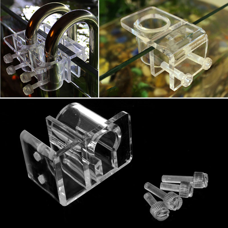 Aquarium Acrylic Fish Tank Filter Outflow Inflow Pipe Holder Water Hose Holder