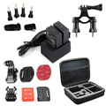 go pro Accessory sets Large Bag bicycle mount Mounts Helmet fixed base hero3 hero 3 plus battery charger for GoPro HD Hero 3+ 3