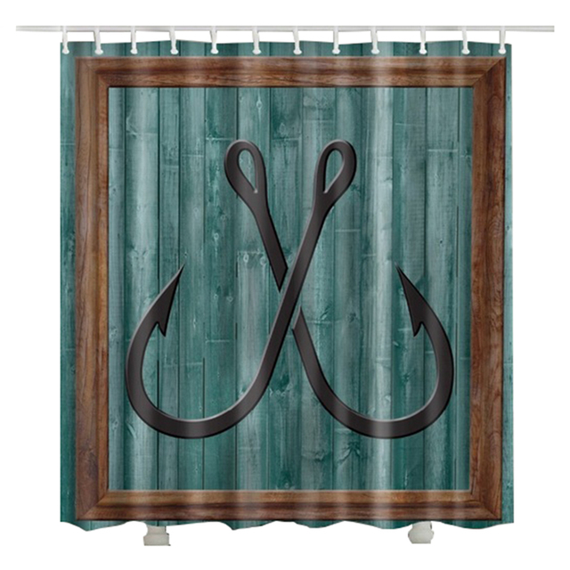 fish Hooks bath curtain shower cheap new design Europe ...