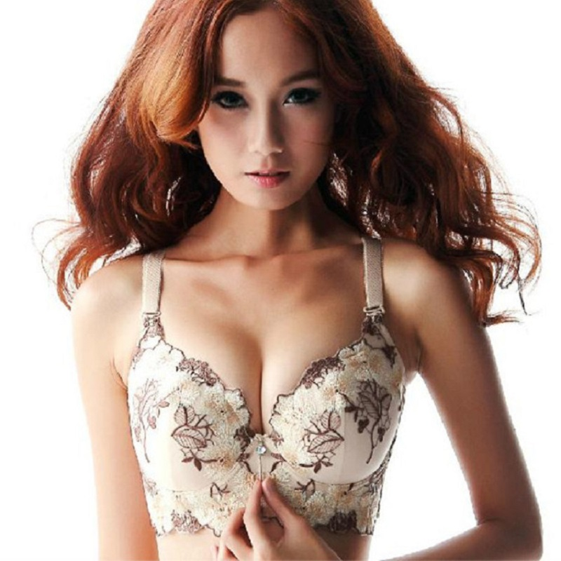 Female Design Embroidery C D Cup Push Up Bra new fashion Style Size Brand Explosion Models Underwear For Women ...