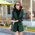 2016 New Winter Korean Female Slim Wool Coat Button Dustcoat