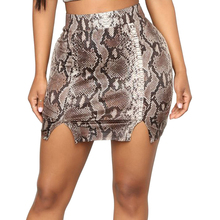 High Waist Snake Leopard Pattern Skirt Sexy Europe And America Slim Nightclub Style Snakeskin Bodycon Women Pencil Skirts