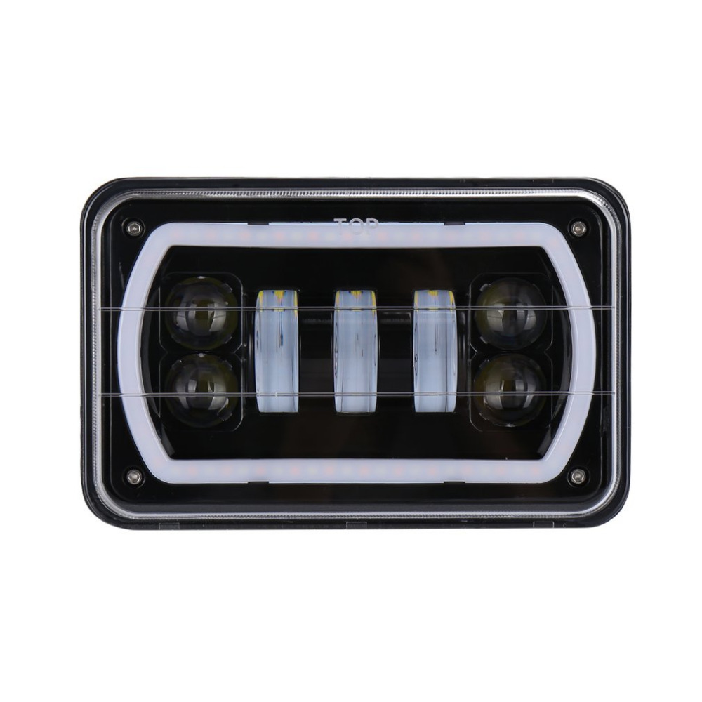 30W Day Time Running Square Shape Light 4*5 Inch 4*6 Inch Full Aperture Car LED Lights for Car & Truck brand new universal 40 w 6 inch 12 v led car work light daytime running lights combo light off road 4 x 4 truck light