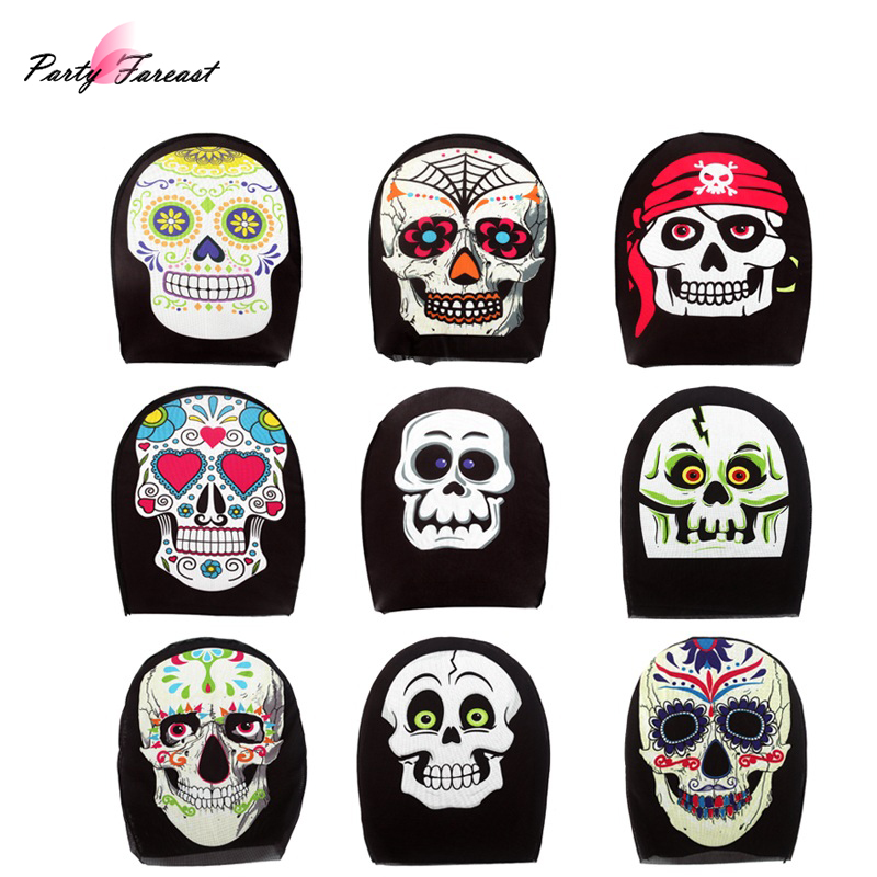 Skull-Mask Fabric Scary Cosplay Halloween Sexy Women Party-Decorations for Headgear