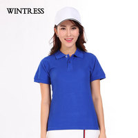 WINTRESS New Design Women Polo Shirt Short Sleeve Natural Color Breathable Slim Camisa Polo Shirt with Buttons Can Custom Logo