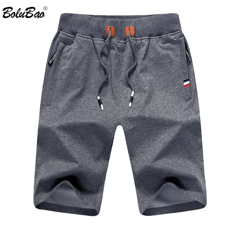 BOLUBAO Men Summer Casual Shorts Men Brand New Board Shorts Solid Breathable Elastic Waist Male Casual Short Men