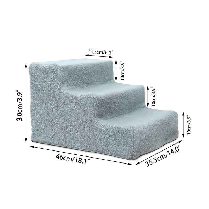 Pet Dog Stairs Ladder for Small Old Dogs Breathable Ramp for High Bed Sofa Puppy Detachable Cat Bed Cushion Mat Solid Step Stair