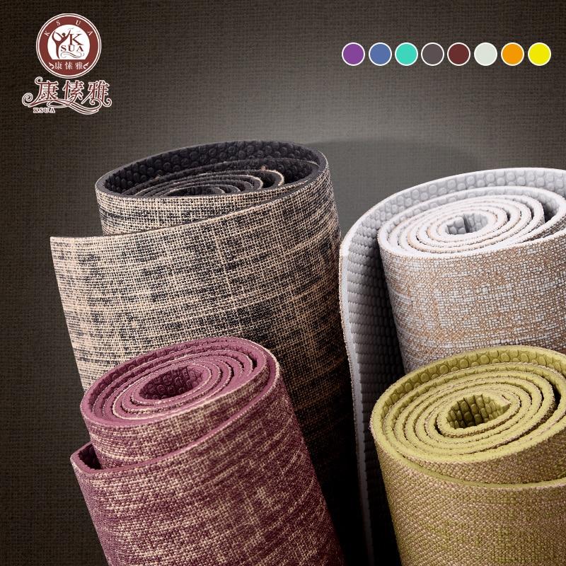 KSUA 5mm Linen Yoga Mat High Quality Fitness Professional