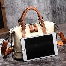 Natural cowhide women genuine leather handbag (2 colors)