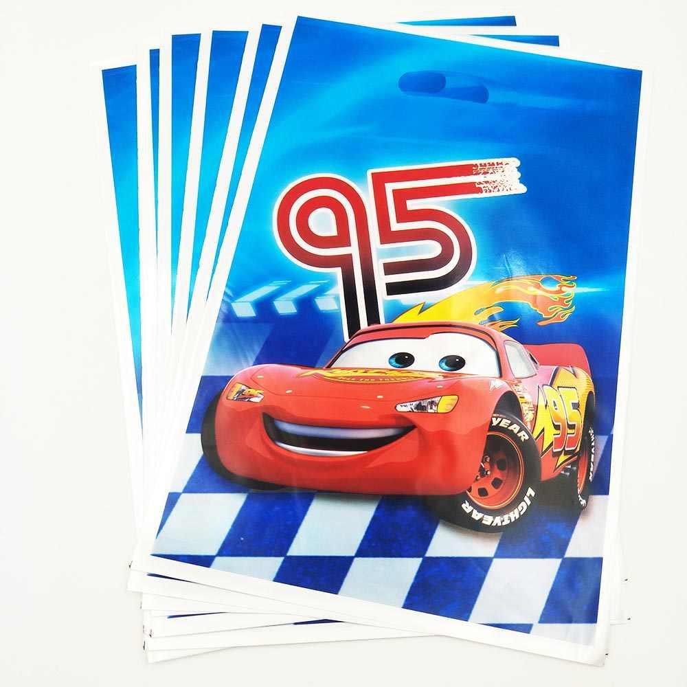 Disney Cars Lightning McQueen วันเกิด Party ถ้วยจานผ้าเช็ดปากมีด Forks หน้ากากธงผ้าปูโต๊ะหลอดถ้วย Party ตกแต่ง