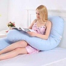 Для беременных женщин u-образная полная подушка для тела удлинение-поддержка спины бедра ноги живота Поддержка материнства Съемная Подушка для беременных и кормящих