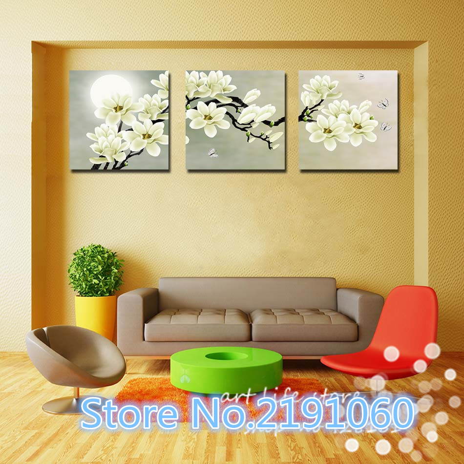 3 Piece Hot Sell Modern Painting White Orchid Flowers Home ...