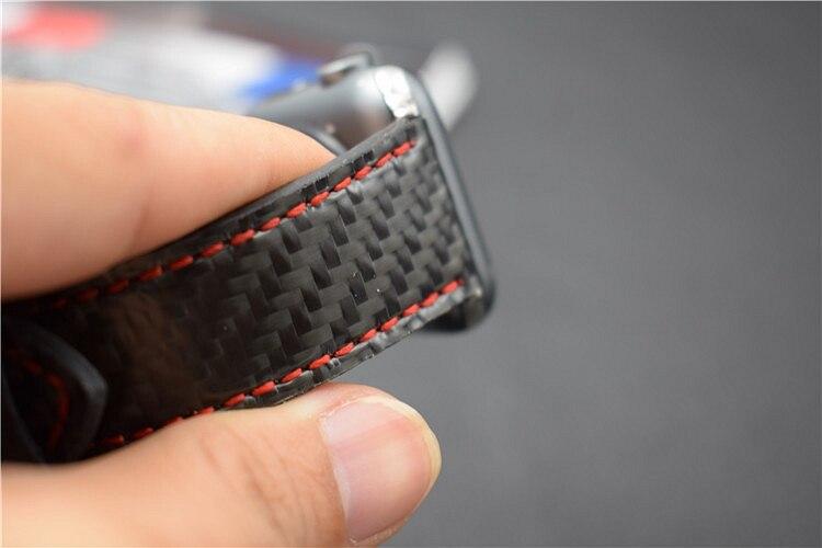 For Apple Seires 4 Watch Rem ægte kulfiber læderbånd til Apple - Tilbehør til ure - Foto 5