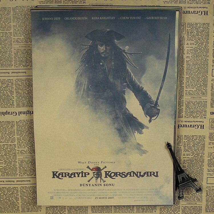Pirates of the Caribbean Jack captain Johnny Depp retro bar Movie Poster