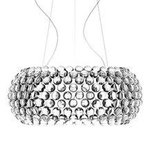Современный Гостиная акриловые RS7 лампы подвесные светильники, с зажимным приспособление Обеденная Foscarini Caboche Dia35/50/65 CM прозрачный Золотая Подвесная лампа