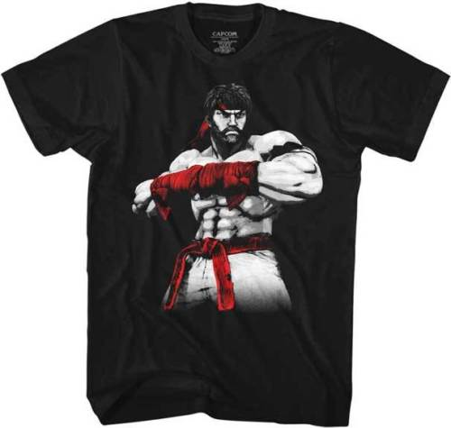 Street Fighter Capcom Video Game Ryu Fight Move Adult T Shirt