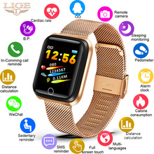 LIGE 2019 New Smart Watch Heart Rate Blood Pressure Monitor fitness tracker Bracelet Band Pedometer Sport Wristband