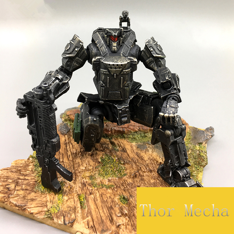 JOY TOY  1:27 the 2rd generation Medium sized mecha robot soldiers military movable model doll,action figure 5pcs lots 2017 film extraordinary corps mecha five beast hand collection model toy