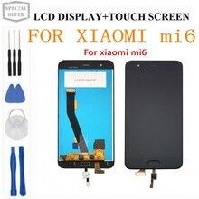 Pantalla LCD para Xiaomi Mi6, nueva pantalla táctil FHD de 100% pulgadas, repuesto de montaje de digitalizador para teléfono móvil Xiaomi MI 6 M6, 5,15