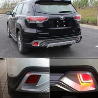 KEEN LED Rear Bumper Reflector Light For Toyota Highlaner 2015 Parking Warning Stop Brake Lamp Tail