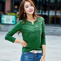 Chemise Femme Long Sleeve Women Blouses Cotton Plus Size Tops V Neck Solid Blouse Shirt Women