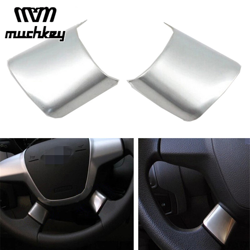 KIMISS 3Pcs ABS Car Styling Steering Wheel Buttons Decoration Cover Trim Sticker Decoration