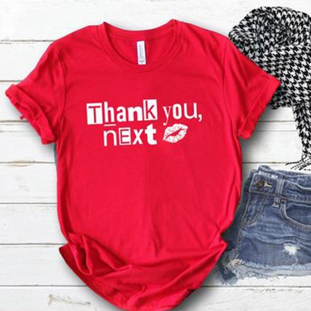 93e0aa8df Ariana Grande Thank U Next T Shirt Women Print TShirt Woman T-Shirt Shirts  Short Sleeve Fashion Tee Shirt Women Lovers Tops