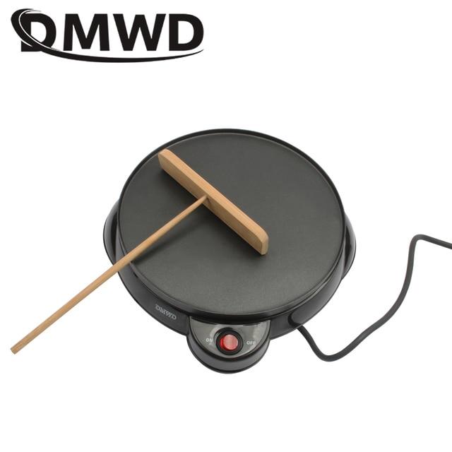 DMWD électrique oeuf crêpière cuisson pizza pan crêpe cuiseur plaque antiadhésive Teppanyaki printemps rouleau petit déjeuner machine 220 V-240 V