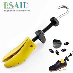 Image 1 - BSAID Novo 1 Pedaço de Sapato de Plástico Rack de Maca Para Homens Sapatos de Couro Sapato de Salto Alto Mulheres Unissex Ajustável De Madeira Da Sapata expansor