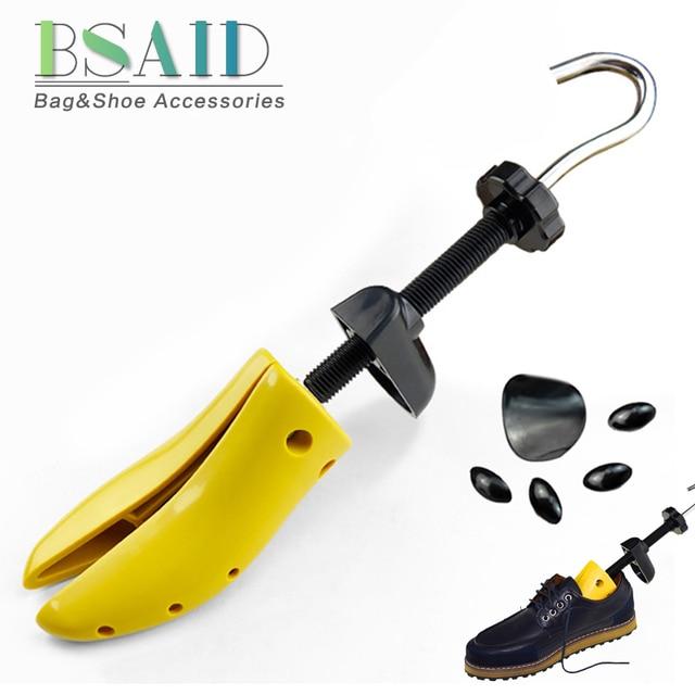 BSAID Novo 1 Pedaço de Sapato de Plástico Rack de Maca Para Homens Sapatos de Couro Sapato de Salto Alto Mulheres Unissex Ajustável De Madeira Da Sapata expansor