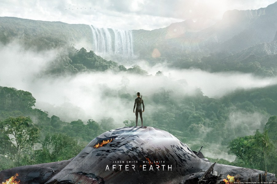 DIY frame After Earth - Danger is but fear is a choice. Movie Poster Fabric Silk Poster Home Decor Jaden Smith Will Smith