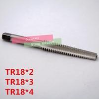 Frete grátis pcs TR18 * 2 1 escada em forma de alta velocidade de aço parafuso de máquina parafuso da torneira  tipo T rosca da torneira da máquina|Fresa| |  -