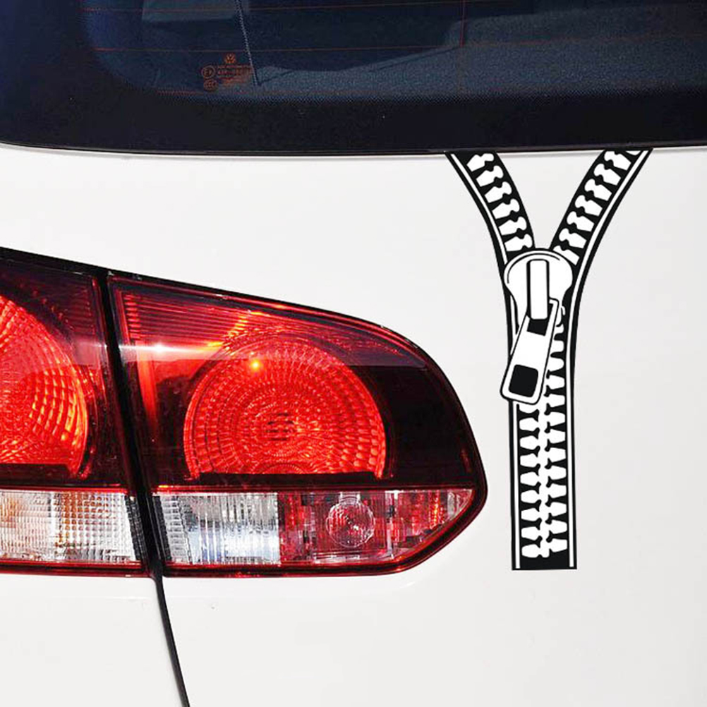 199cm clothes zipper car stickers current fashion car refit car motorcycle decor accessories styling