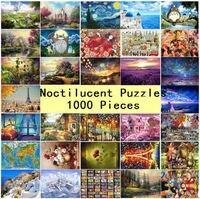 1000 cái Puzzle Kids Jigsaw Puzzles Dạ Quang Đồ Chơi Giáo Dục cho Trẻ Em Người Lớn Huỳnh Quang câu đ