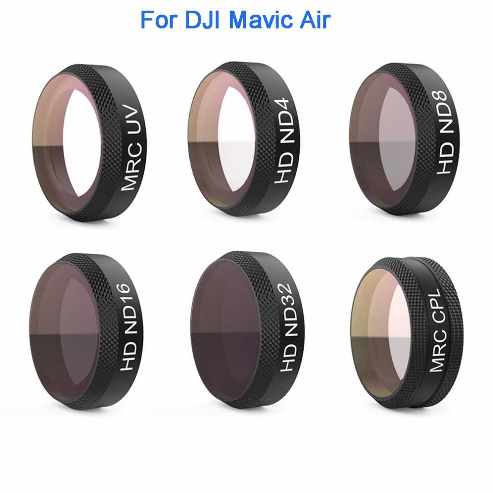 PGYTECH Lens Filters Camera Filter Set UV ND4 ND8 ND16 ND32 CPL for DJI MAVIC AIR RC Drone Accessory DR2331 pgytech mavic air filter for dji mavic air mrc uv nd64 nd64pl mrc cpl filter for dji mavic air camera lens filter accessory