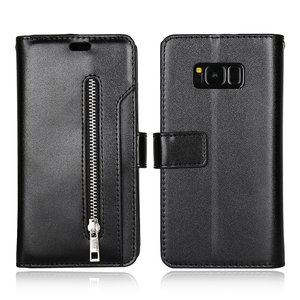 Image 4 - Funda de cuero con tapa para Samsung S20 S20 + S20 Ultra Note 10 9 8 S10E S10 S9 S8 S7 A5 A7 2017, 10 tarjeteros con cremallera