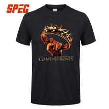 Crown Retro T Shirts Game of Thrones 7 Season Male 100% Cotton Short Sleeve Tshirs Designing Teenage Cotton Men Tees Shirt Tops
