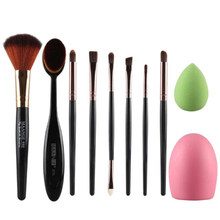 10pcs Makeup Brush Makeup Sponge Makeup Brush Cleaner Foundation Brush Sets