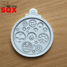New arrival Steampunk Mechanical watch Series Cake Border Fondant Mold ,Chocolate Mold for Kitchen Baking Decoration ToolSQ16174