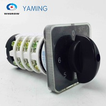 цена на Rotary switch knob 6 position 0-6 YMZ12-20/4 universal manual electrical changeover cam switch 20A 690V 4 section high quality